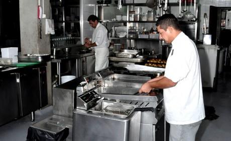 Inox em cozinha industrial