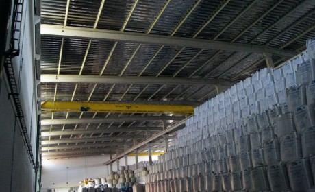 Telhado e tanques de inox - Usina Alta Mogiana