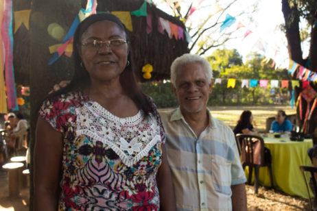 Dona Laura Heloísa e seu esposo José Mendes frequentam as aulas juntos