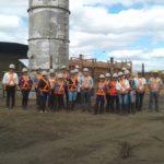 Comitiva da secretaria conhece o Queimador de Gases na Unidade de Produção da Lagoa