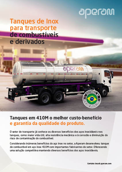 Tanques de Inox para transporte de combustíveis e derivados