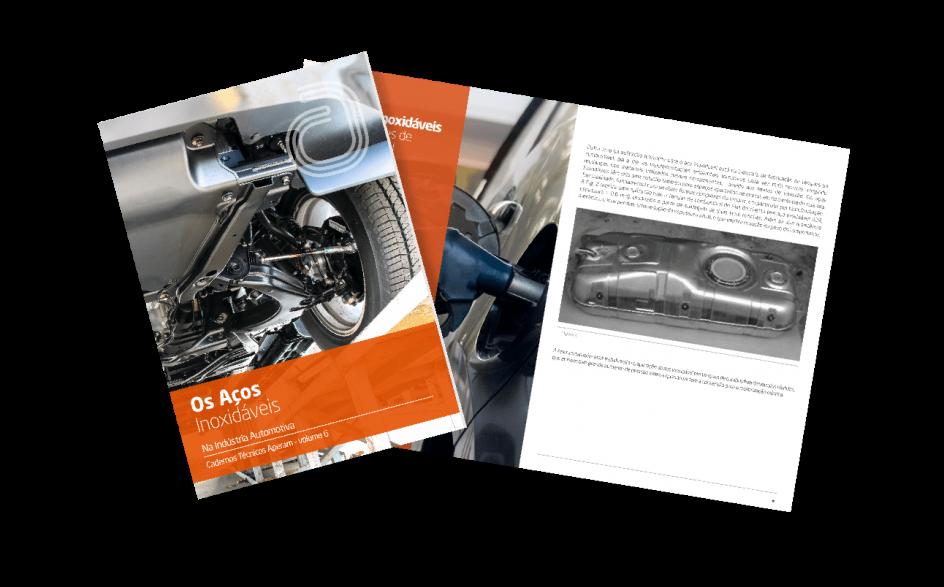 E-book Açoos inoxidaveis na industria automotiva capa